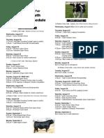 2019 New York State Fair Livestock Schedule