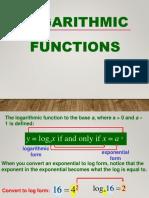Logarithmic Functions Week 7