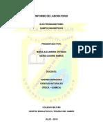 INFORME de LABORATORIO - Electromagnetismo - Alejandra Estrada y Maira Guerra