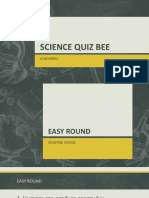 Science Quiz Bee Questions