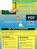 Standardized Recipes Culinary Math Nutrition