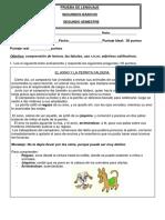 Evaluacion Lenguaje Segundos Basicos Fabulas, Adjetivos, Uso Rr,r,Nr