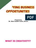 Business Opportunities Final Period