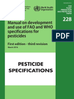 WHO Specifications for Pesticides (First Edition) 2016