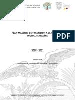Plan Maestro de Transición a La Televisión Digital Terrestre 2018 2021