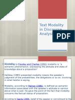Text Modality in Discourse Analysis 22
