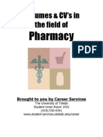 Pharmacy Resume CV Guide