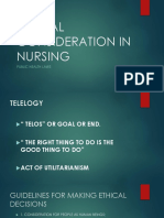 Ethical Consideration in Nursing