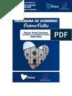Programa de Gobierno Podemos Pailitas