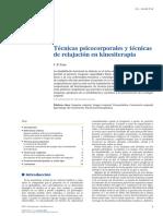 2014 Técnicas psicocorporales y técnicas de relajación en kinesiterapia