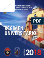 Régimen Universitario U.M.S.A 2018