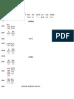 General Class Schedule 2018
