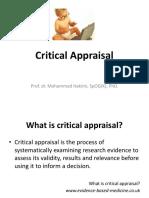 Critical Appraisal 2017