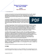 Réseau de Transmission PDH SDH