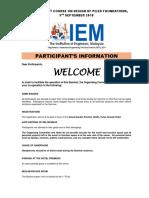 (1) Participants Information