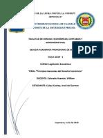 Principios Generales Del Régimen Económico de La Constitución Política Del Perú