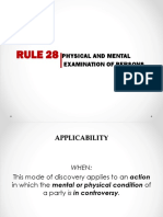 Rule 28 ROC Physical and Mental Examination