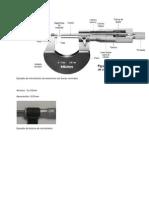 Ejemplo de micrómetro de exteriores con bocas normales