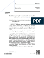 UN 70/291. The United Nations Global Counter-Terrorism Strategy Review A/RES/70/291 N1620608