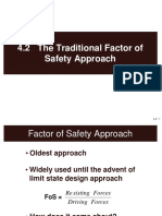 4.2 the Traditional Factor of Safety Approach