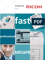 Ricoh Aficio Mp 7500 Copier Brochure