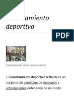Calentamiento Deportivo - Wikipedia, La Enciclopedia Libre