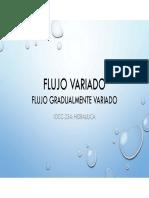 Hidráulica - Flujo Gradualmente Variado