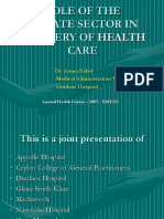 19Role of the Private Sector in Healthcare Delivery