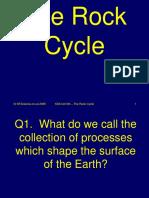 8h Rock Cycle Science Quiz
