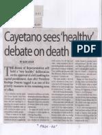Manila Times, July 29, 2019, Cayetano sees healthy debate on death bill.pdf