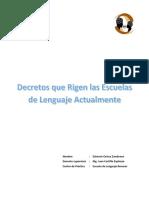 Revisión Bibliogáfica Dámaris Decretos Que Rigen Las Escuelas de Lenguaje Actualmente