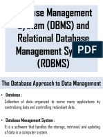 Database and RDBMS