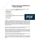 Chemical Cleaning of Mf and Uf Membranes in Water Treatment
