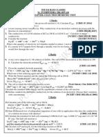 Electrochemistry Test Sunday 26