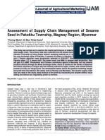 Assessment of Supply Chain Management of Sesame Seed in Pakokku Township, Magway Region, Myanmar