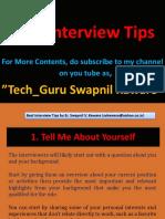 Interview Tips by, Er. Swapnil V. Kaware