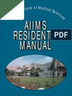 Aiims Residents Manual
