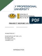 project report on NPA