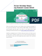100 Killer Holiday Email Marketing Subject Lines 2019