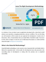 Waterfall Vs. Agile