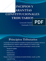 PRINCIPIOS Y GARANTÍAS CONSTITUCIONALES TRIBUTARIOS