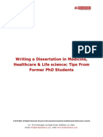 Dissertation in Medicine, Healthcare & Life Science Tips From Former PhD Students