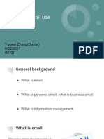 personal e-mail use for work