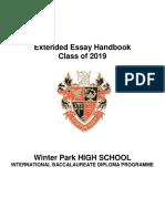 Class of 2019 Extended Essay Handbook - Final