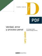 (L) Verdad, Error y Proceso Penal, L Laudan