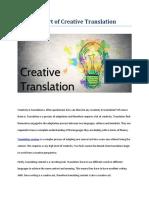 The Art of Creative Translation