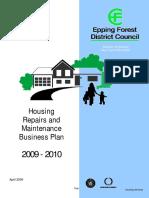 Housing Repairs Maintenance Business Plan 2009-10