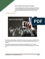Best Practices for an Efficient Mass Recruitment Campaign