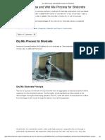 Dry Mix Process and Wet Mix Process for Shotcrete