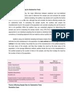 Audit Sampling for Substantive Tests